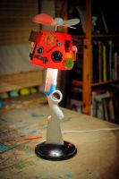 Shotgun upcycled table lamp by herywalery