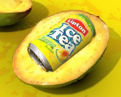 Lipton Ice Tea Mango in 3D by cetintuker