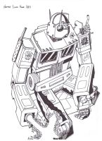 Optimus Prime by hellbat