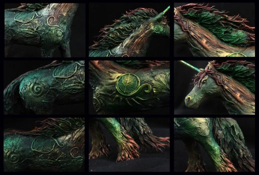 Textures of Forest Horse by hontor