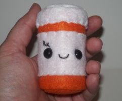 Prescription Pill Bottle Plushie by kiddomerriweather