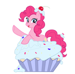 Pinkie Pie and Giant CUPCAKE!? by LeLittleLuna