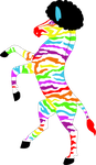 LGBT Afro-Zebra by Haters-Gonna-Hate-Me