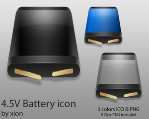 4 5V Battery Icon by xionz Iconos para Windows XP