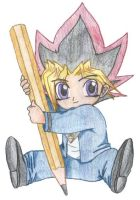 Adorable Chibi Yugi by SkylaDoragono