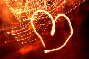 Heart of Christmas lights by edimans