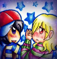 Me and my star by MessuNya
