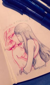 Sketch Jujuba e Marceline 01.12.2016 by AnaPaula07