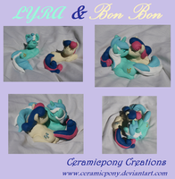 Lyra and Bon Bon by ceramicpony