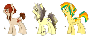 Pony Adoptables! CLOSED by Endber