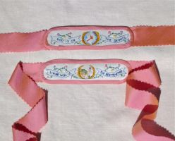 18th Century Embroidered Garters by AlAlNe