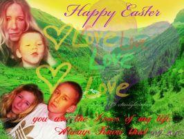 Happy Easter Catgel family by starlight2infinity