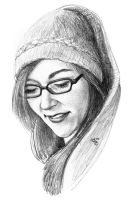shy girl quick sketch by subhankar-biswas