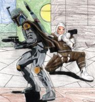 Boba Fett and Dengar by Sphinx47