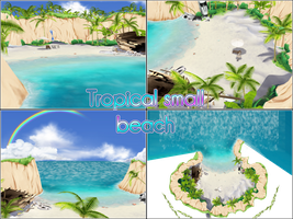 Small tropical beach by kaahgomedl