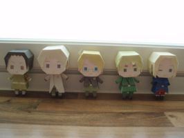 APH papercraft: Allied Forces by Demmi-chan