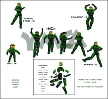Master Chief Poses by TGOSeraph