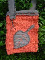 upcycled leaf bag by were-were-wolfy