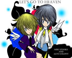 Let's Go to Heaven- Miki Utsuku and Alto Colony by MewKwota