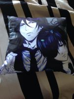 Black Butler Pillow of Ciel and Sebastain by JOHNSRODRIGUEZ1997