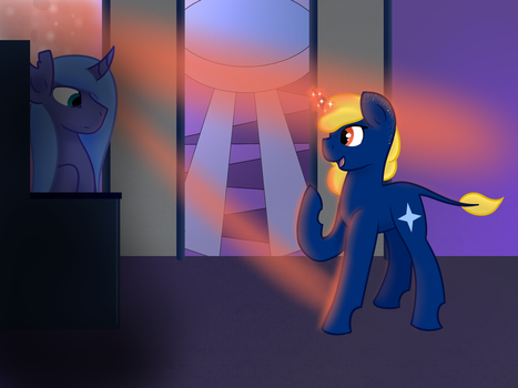 Grand Queen Luna holds Court by azure-quill-arts