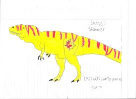 Sunset Shimmer Carcharodontosaurus form by Dinosuarjosh