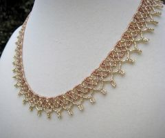 Beaded Coronet Necklace by BeadfulStrings