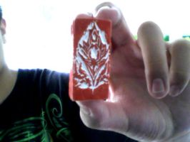 I carved the stone Blood Elf logo by 841376252