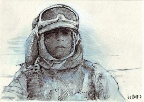 Luke on Hoth sketch card 11 by charles-hall