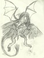 Sketch: The dragon Merdrac by Nuevolucion