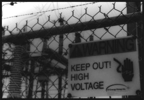 DANGER HIGH VOLTAGE by talwin