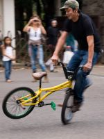 Bike Trick in Yoyogi Park by SuperPope