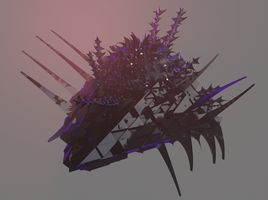 Sovereingn Swarm Destroyer - 3D by Carnaxian22