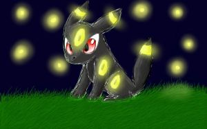 Glowy night :D by LugiaUmbreonPower