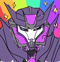 Pwetty Soundwave Chuu Rainbow by CatgirlKitsune