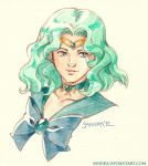 Sailor Neptune Vignette by saniika