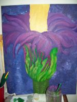 Corpse Flower, Oils over Acrylic WIP by Caylyngasm