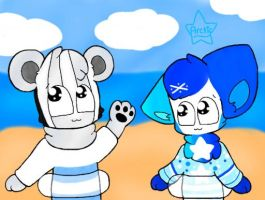Friends at the Beach by Arcticcloud