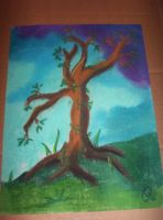 tree in chalk by Iolii