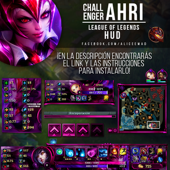 League of Legends HUD - Challenger Ahri by AliceeMad