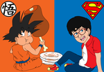 Son Goku and Clark Kent by TheMelon93