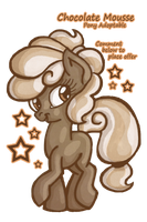 Chocolate Mousse -- Pony Adoptable Auction by KimikoNyanChan