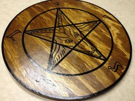 Sigil of Baphomet Plaque dark stain num. 3 by SigilofSulfer