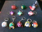 Keychains clay by CreationsbyFrost