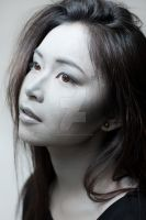 grayscale make-up. by ManonMadness