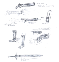 Sketch Thing - Lana's Robotics and Weapons by Neuroticpig