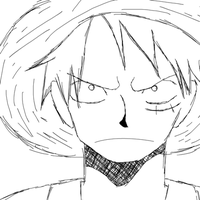 Luffy Face Walking by Yurusen