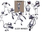 Alien Monkeys by Kriegaffe