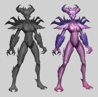 Zerg-female by MauGee13