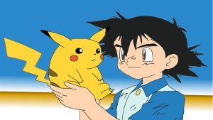Ash and Pikachu by BubbaZ85